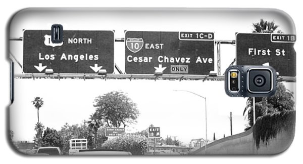 Black And White Abstract City Photography...l.a. Freeway Galaxy S5 Case by Amy Giacomelli