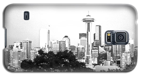 Black And White Abstract City Photography...seattle Space Needle Galaxy S5 Case by Amy Giacomelli