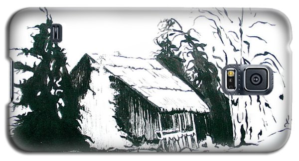 Black And White Barn In Snow Galaxy S5 Case by Joyce Gebauer