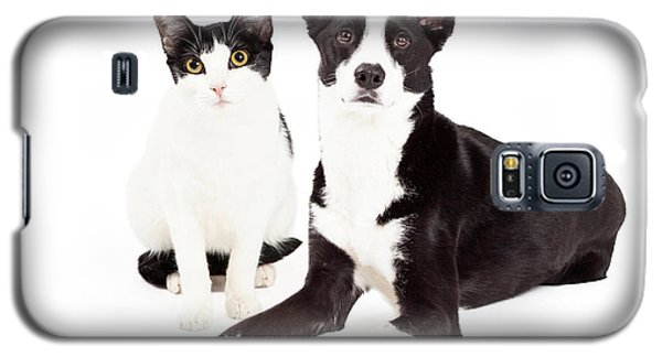 Black And White Cat And Dog Galaxy S5 Case