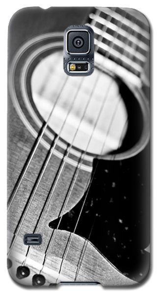 Black And White Harmony Guitar Galaxy S5 Case by Athena Mckinzie