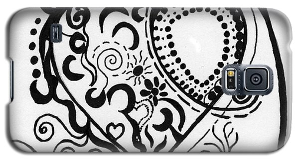 Black And White Heart Galaxy S5 Case