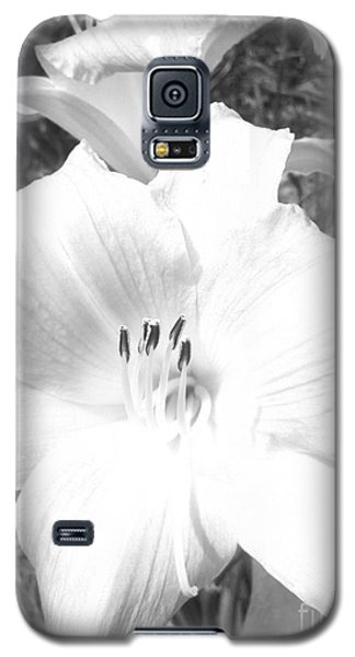 Black And White Hibiscus  By Saribelle Rodriguez Galaxy S5 Case by Saribelle Rodriguez