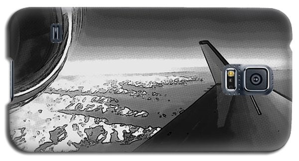 Galaxy S5 Case featuring the photograph Jet Pop Art Plane Black And White  by R Muirhead Art