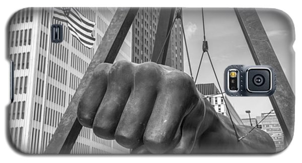 Black And White Joe Louis Fist And Flag Galaxy S5 Case