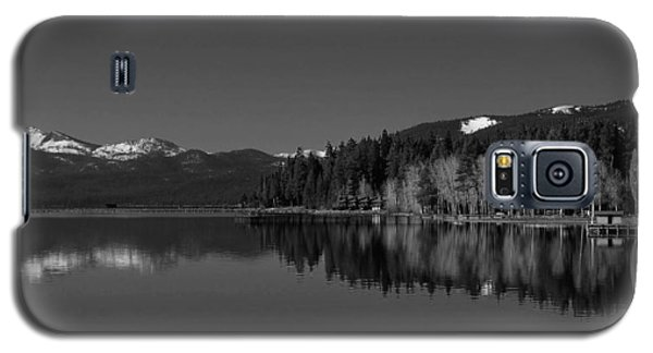 Black And White Lake Tahoe Reflection Galaxy S5 Case