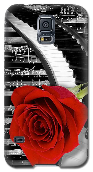 Black And White Music Collage Galaxy S5 Case by Phyllis Denton