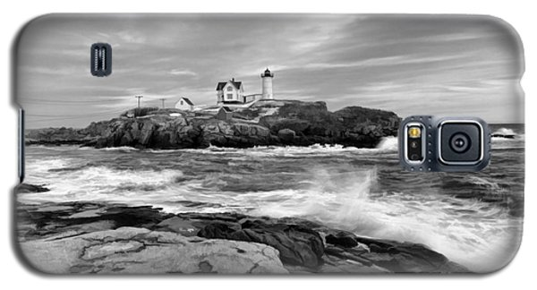 Black And White Painted Seascape Galaxy S5 Case