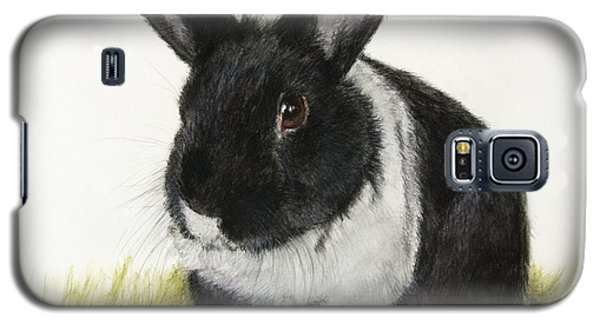 Black And White Pet Rabbit Galaxy S5 Case