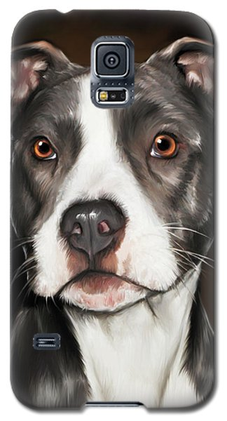 Black And White Pit Bull Terrier Galaxy S5 Case