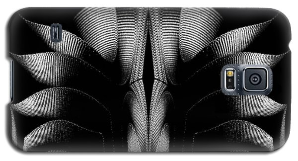 Galaxy S5 Case featuring the mixed media Black And White by Rafael Salazar