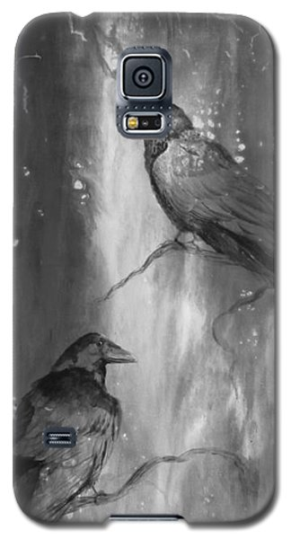 Black And White Ravens Galaxy S5 Case