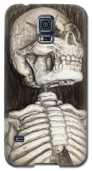 Black And White Skeleton Galaxy S5 Case