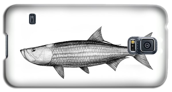Black And White Tarpon Galaxy S5 Case