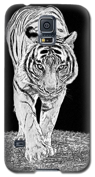 Black-and-white Tiger Galaxy S5 Case