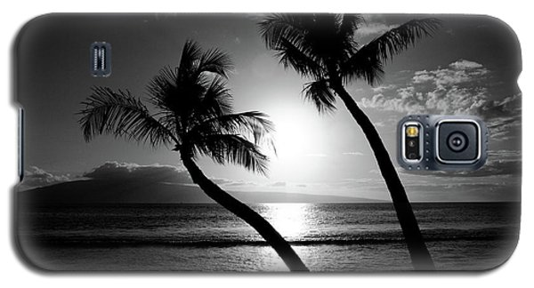 Black And White Tropical Galaxy S5 Case