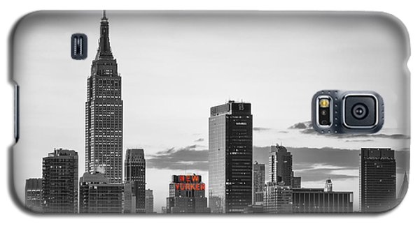 Black And White Version Of The New York City Skyline With Empire Galaxy S5 Case