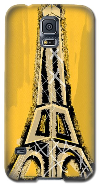 Black And Yellow Eiffel Tower Paris Galaxy S5 Case