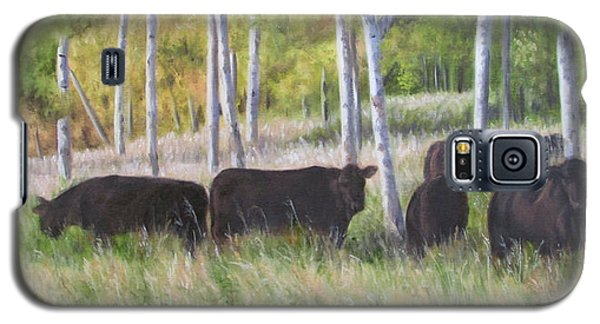 Black Angus Grazing Galaxy S5 Case