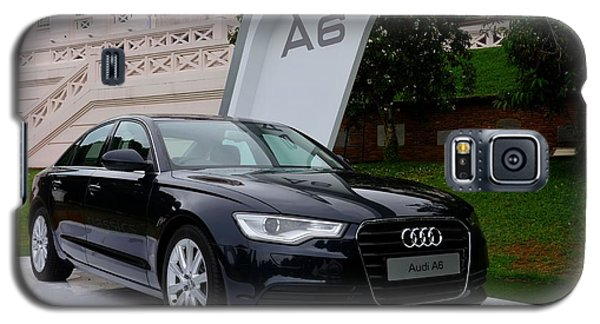 Black Audi A6 Classic Saloon Car Galaxy S5 Case