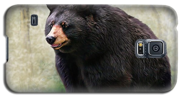 Galaxy S5 Case featuring the painting Black Bear by Mary Almond