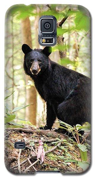 Black Bear Smile Galaxy S5 Case
