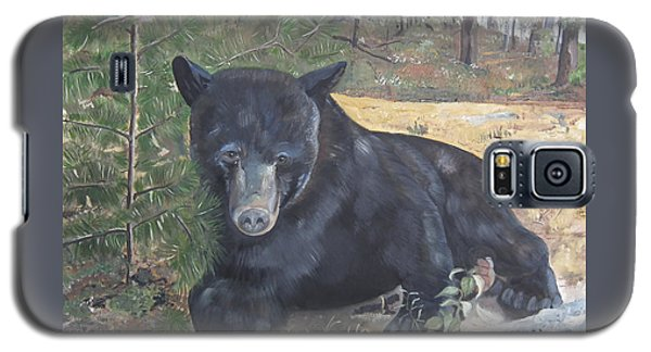 Galaxy S5 Case featuring the painting Black Bear - Wildlife Art -scruffy by Jan Dappen