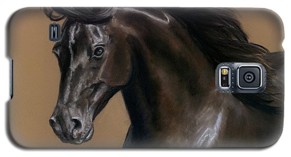 Galaxy S5 Case featuring the painting Black Beauty by Sheri Gordon