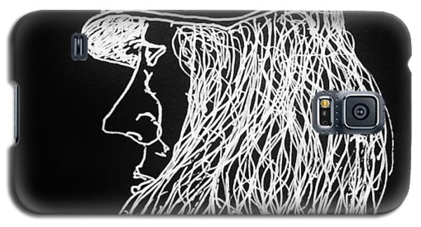 Galaxy S5 Case featuring the painting Black Book 06 by Rand Swift