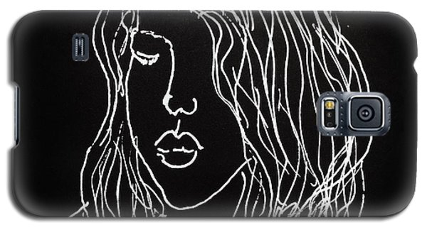 Galaxy S5 Case featuring the drawing Black Book 07 by Rand Swift