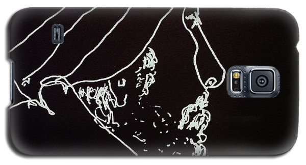 Galaxy S5 Case featuring the painting Black Book Series 03 by Rand Swift