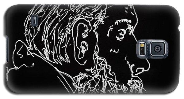 Galaxy S5 Case featuring the drawing Black Book Series 05 by Rand Swift
