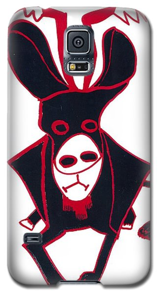 Galaxy S5 Case featuring the drawing Black Bull by Don Koester