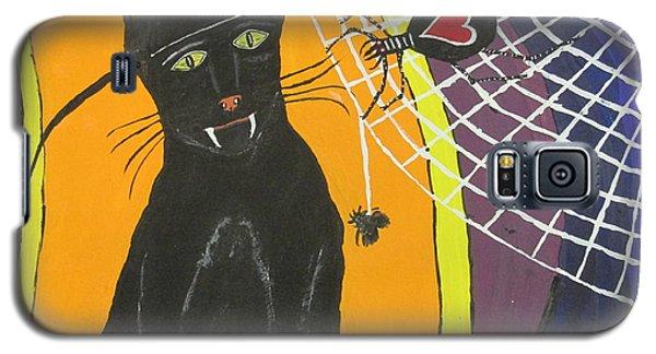 Black Cat In A Hat  Galaxy S5 Case by Jeffrey Koss