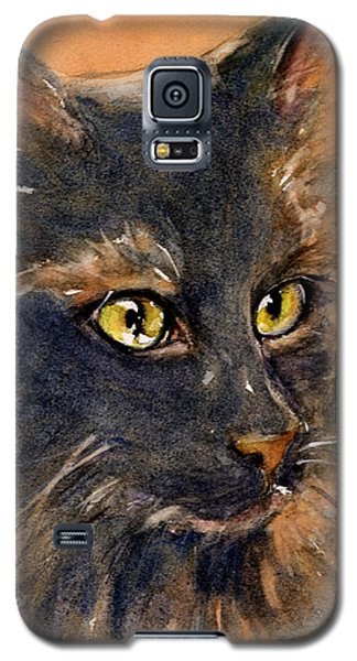Black Cat Galaxy S5 Case by Judith Levins