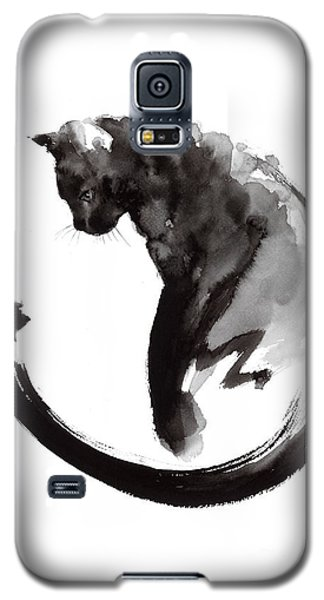 Black Cat Galaxy S5 Case by Mariusz Szmerdt
