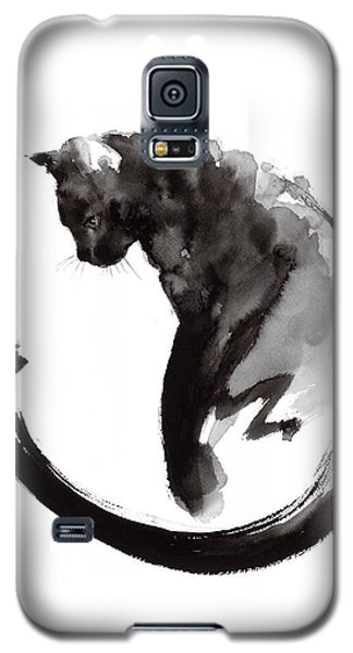 Cats Galaxy S5 Case - Black Cat by Mariusz Szmerdt