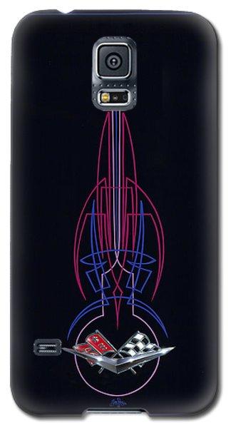 Black Corvette Galaxy S5 Case
