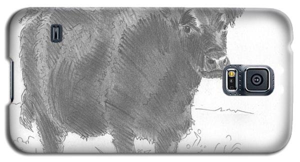 Black Cow Pencil Sketch Galaxy S5 Case