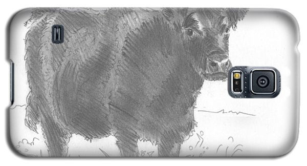 Black Cow Pencil Sketch Galaxy S5 Case