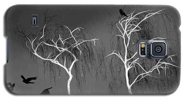 Galaxy S5 Case featuring the photograph Black Crows - White Trees  by Richard Piper