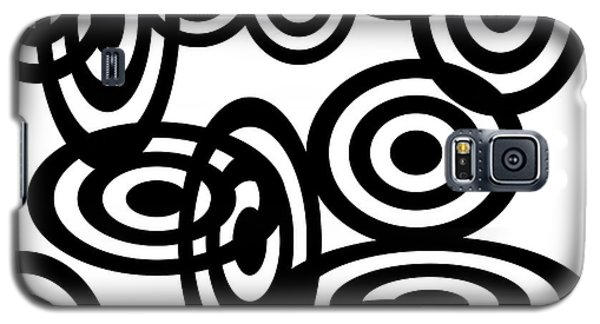 Black Discs Linked Galaxy S5 Case