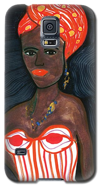 Galaxy S5 Case featuring the drawing Black Diva by Don Koester