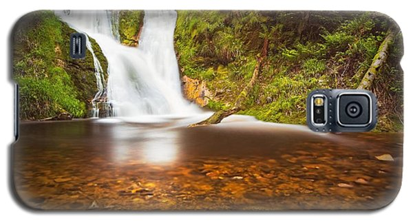 Galaxy S5 Case featuring the photograph Black Forrest Waterfall by Maciej Markiewicz