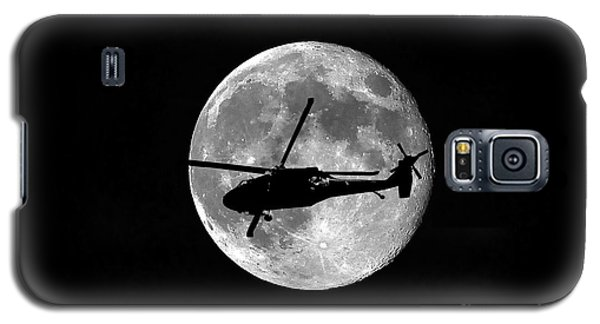 Helicopter Galaxy S5 Case - Black Hawk Moon by Al Powell Photography USA
