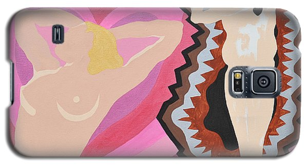 Galaxy S5 Case featuring the painting Black Hearted by Erika Chamberlin