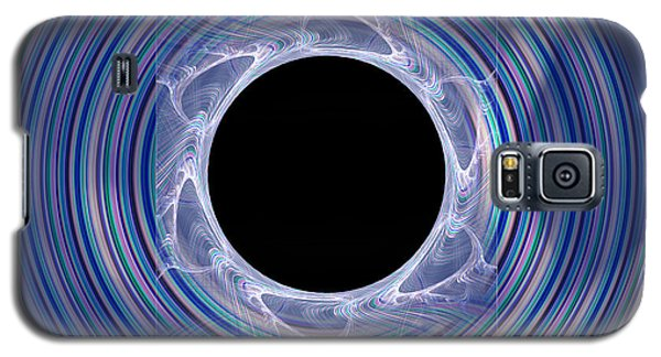Galaxy S5 Case featuring the digital art Black Hole by Victoria Harrington