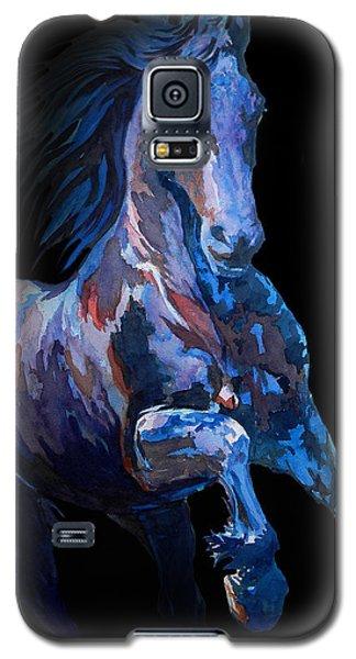 Black Horse In Black Galaxy S5 Case by J- J- Espinoza