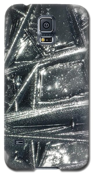 Galaxy S5 Case featuring the photograph Black Ice by Jane Ford