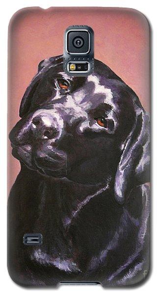 Black Labrador Portrait Painting Galaxy S5 Case